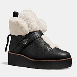 Coach shearling lined urban hiker boot